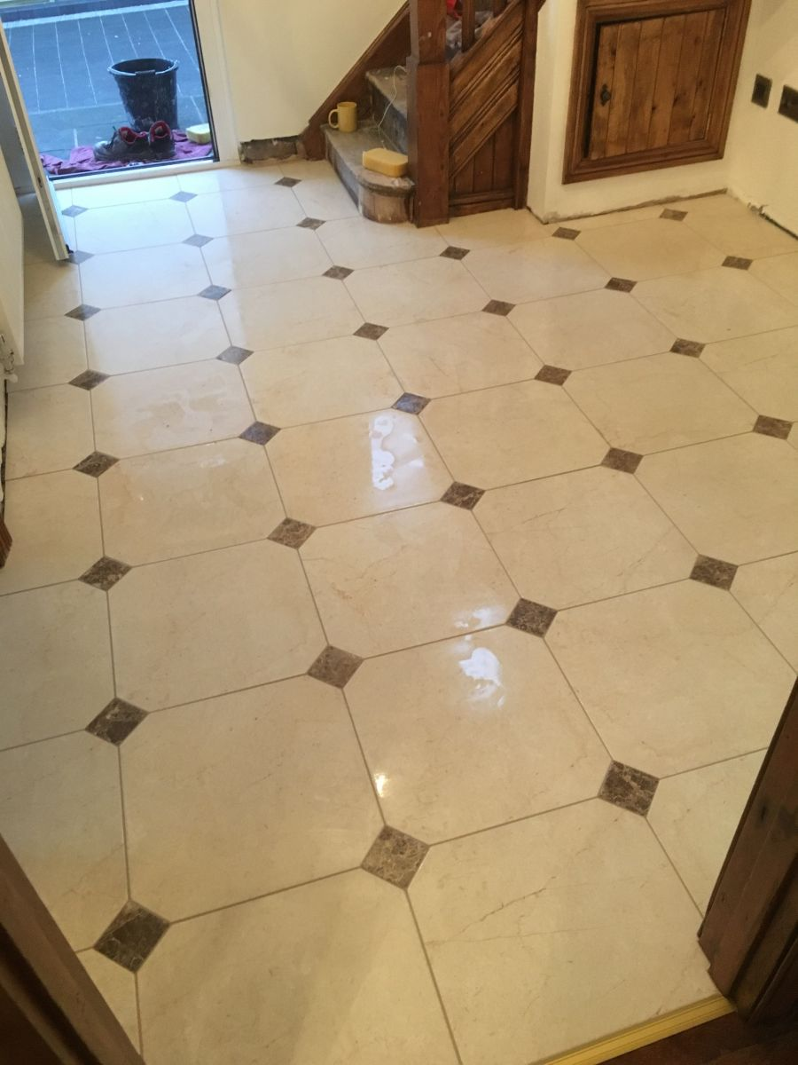 Hallway floor , Porcelain  tile and stone flooring